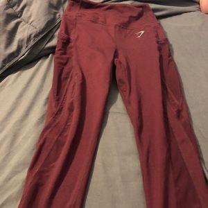 Red Gymshark Leggings